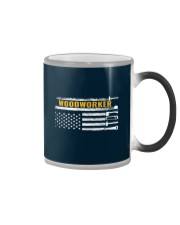 Woodworking American Flag Woodworker Carpenter Color Changing Mug thumbnail