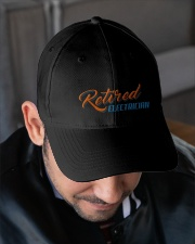 Retired Electrician Embroidered Hat garment-embroidery-hat-lifestyle-02