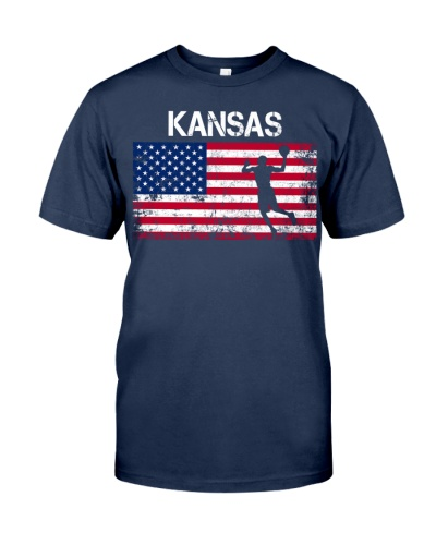 Kansas State Basketball American Flag
