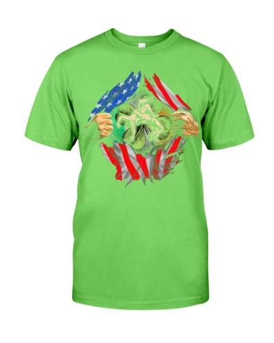American Flag Shamrock Ireland Wrestling
