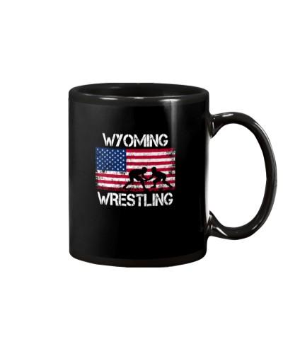 Wyoming Wrestling American Flag