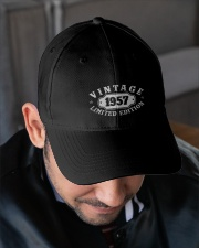 1957 Birthday Vintage Anniversary Embroidered Hat garment-embroidery-hat-lifestyle-02