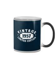 1957 Birthday Vintage Anniversary Color Changing Mug tile