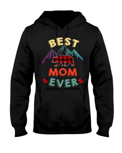 Best Mom Bear Ever Xmas Red Plaid