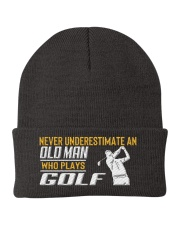Old Man Who Plays Golf Knit Beanie thumbnail