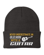 Old Man With A Guitar Knit Beanie thumbnail