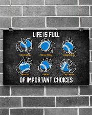 Baseball Pitches Life Choices 17x11 Poster poster-landscape-17x11-lifestyle-18