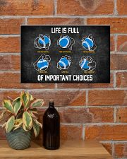 Baseball Pitches Life Choices 17x11 Poster poster-landscape-17x11-lifestyle-23