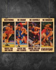 Wrestling be strong when you are weak 17x11 Poster aos-poster-landscape-17x11-lifestyle-12