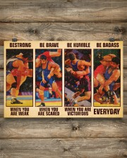 Wrestling be strong when you are weak 17x11 Poster aos-poster-landscape-17x11-lifestyle-14