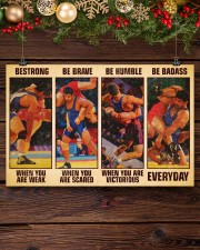 Wrestling be strong when you are weak 17x11 Poster aos-poster-landscape-17x11-lifestyle-27