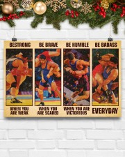 Wrestling be strong when you are weak 17x11 Poster aos-poster-landscape-17x11-lifestyle-28