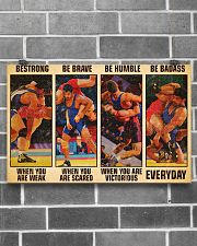 Wrestling be strong when you are weak 17x11 Poster poster-landscape-17x11-lifestyle-18