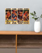 Wrestling be strong when you are weak 17x11 Poster poster-landscape-17x11-lifestyle-24