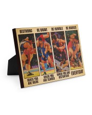 Wrestling be strong when you are weak 10x8 Easel-Back Gallery Wrapped Canvas thumbnail