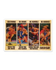 Wrestling be strong when you are weak Sticker - Single (Horizontal) thumbnail