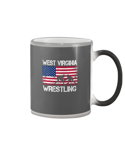 West Virginia Wrestling American Flag