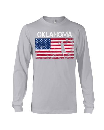 Oklahoma State Basketball American Flag