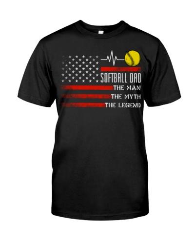 Softball Dad  Man Myth Legend
