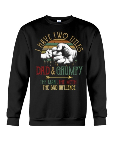 Two Titles Dad And Grumpy Man Myth
