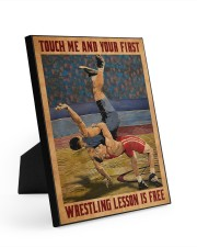 Wrestling Touch Me Poster Easel-Back Gallery Wrapped Canvas tile