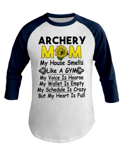 Crazy Archery Mom Heart Is Full Tee
