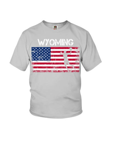 Wyoming State Basketball American Flag
