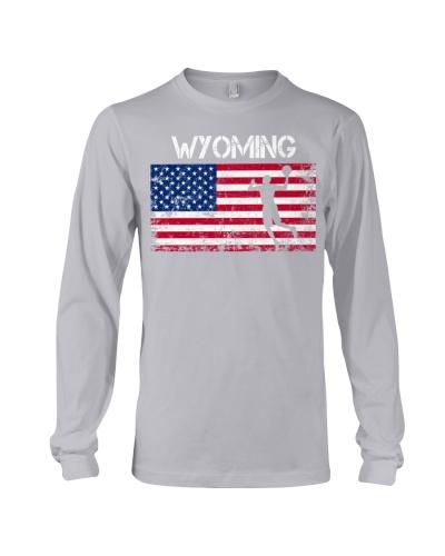 Wyoming State Basketball American Flag