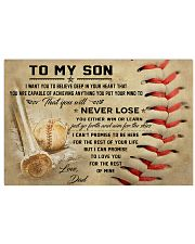 Baseball Poster 17x11 Poster front