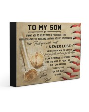 Baseball Poster 14x11 Gallery Wrapped Canvas Prints thumbnail