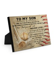 Baseball Poster 10x8 Easel-Back Gallery Wrapped Canvas thumbnail