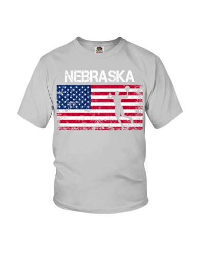 Nebraska State Basketball American Flag