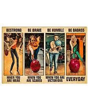 Bowling Be Strong Woman 17x11 Poster front