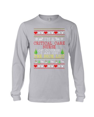 Critical Care Nurse Ugly Christmas