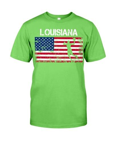 Louisiana State Basketball American Flag
