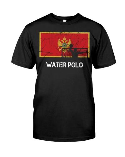 Montenegro Flag Water Polo