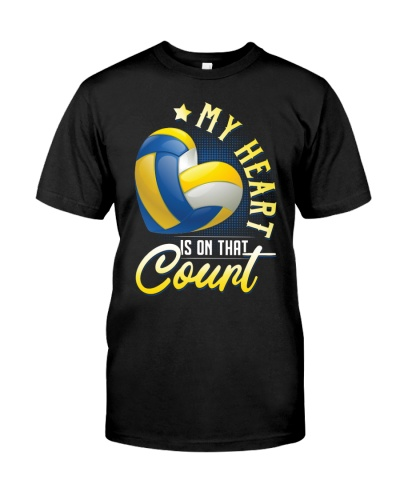My Heart Is On That Court Volleyball Mom