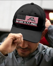 Wrestling America Flag Embroidered Hat garment-embroidery-hat-lifestyle-01