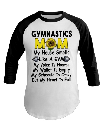 Crazy Gymnastics Mom Heart Is Full Tee