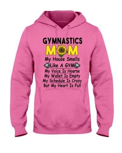 Crazy Gymnastics Mom Heart Is Full Tee