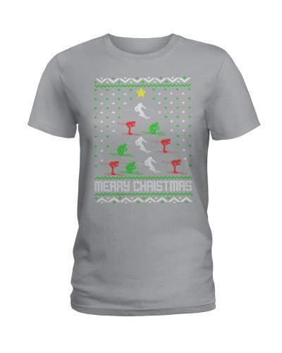 Skiing Christmas Tree