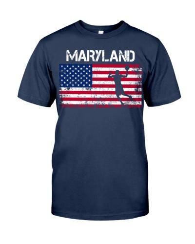 Maryland State Basketball American Flag