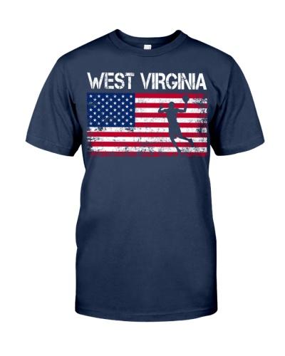 West Virginia State Basketball American Flag