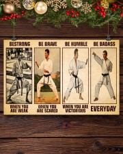 Karate Be Strong 17x11 Poster aos-poster-landscape-17x11-lifestyle-27