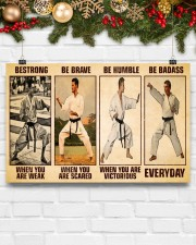 Karate Be Strong 17x11 Poster aos-poster-landscape-17x11-lifestyle-28