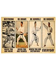 Karate Be Strong 17x11 Poster front