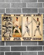 Karate Be Strong 17x11 Poster poster-landscape-17x11-lifestyle-18
