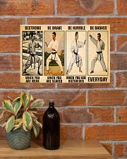 Karate Be Strong 17x11 Poster poster-landscape-17x11-lifestyle-23