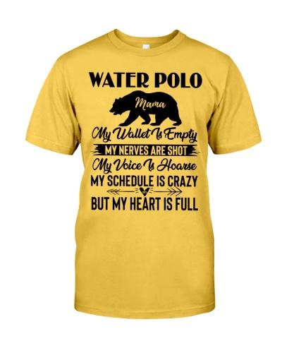 Water Polo Mama Bear Heart Full