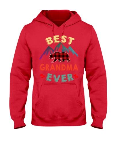 Best Grandma Bear Ever Xmas Red Plaid